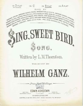 Sing, Sweet Bird - Preloved Sheet Music