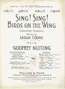 Sing! Sing! Birds On The Wing - Preloved Sheet Music