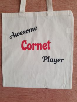 Awesome Cornet Player - 100% Cotton Bag