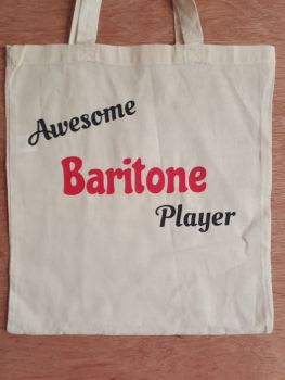 Awesome Baritone Player - 100% Cotton Bag
