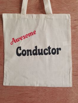 Awesome Conductor - 100% Cotton Bag