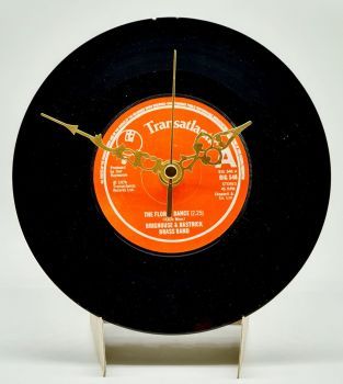 "Floral Dance Clock - 7"" Single Record with Clock Movement (1)"