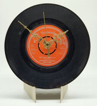 "Floral Dance Clock - 7"" Single Record with Clock Movement (2)"