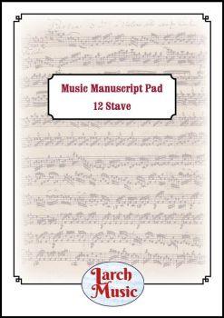 A4 Music Manuscript Paper - 12 Single Stave - 25 Sheets