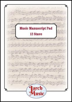 A4 Music Manuscript Paper - 12 Single Stave - 50 Sheets