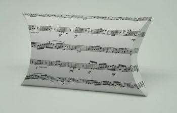 Pillow Box Favour Box - Sheet Music ~ White