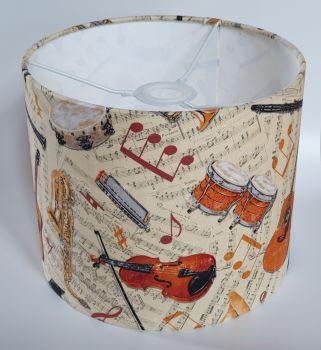 Music Design Handmade Lampshade - Musical Instruments