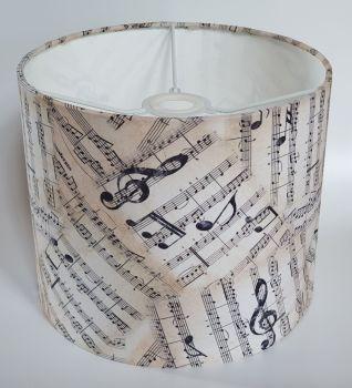 Music Design Handmade Lampshade - Manuscript