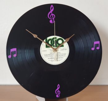 "Floral Dance Clock - 12"" Album Record with Clock Movement (FD)"