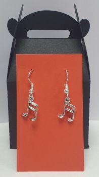 Semi Quaver Tibetan Silver Ear Rings