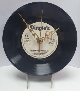 "Capstick Comes Home Clock - 7"" Single Record with Clock Movement (3)"