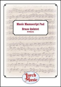 A4 Music Manuscript Paper - Brass Quintet - 50 Sheets