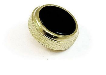 Besson Prestige Cornet Finger Button - Gold Plated with Black Inlay