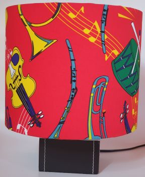 Music Design Handmade Lampshade - Musical Instruments (Red)