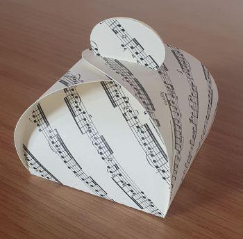 Diamond Box Favour Box - Sheet Music ~ Cream