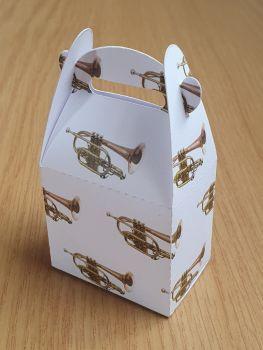 Handled Favour Box - Cornet ~ White