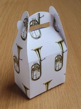 Handled Favour Box - Tenor Horn ~ White