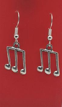 Triplet Tibetan Silver Ear Rings (01)