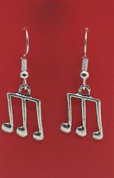 Triplet Tibetan Silver Ear Rings (02)