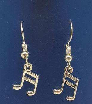 Semiquaver Tibetan Silver Ear Rings (02)