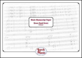 Brass Band Manuscript Score Paper - A3