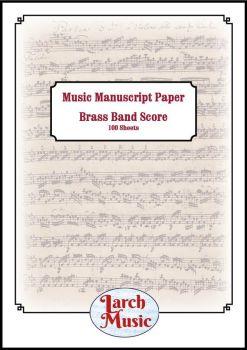 Brass Band Manuscript Score Paper - A4