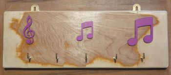 Key Rack - 5 Hook Purple Notation