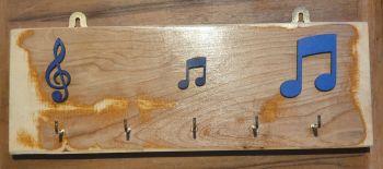 Key Rack - 5 Hook Blue Notation