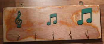 Key Rack - 5 Hook Green Notation