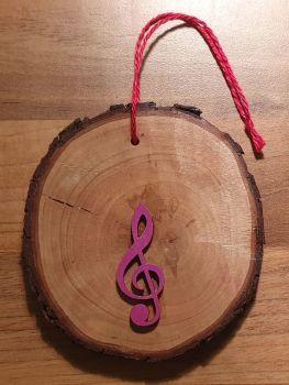 Christmas Tree Decoration - Treble Clef & Quavers (2)