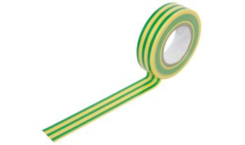 Electrical Insulation Tape - 19mm x 20m ~ Earth (Green & Yellow)
