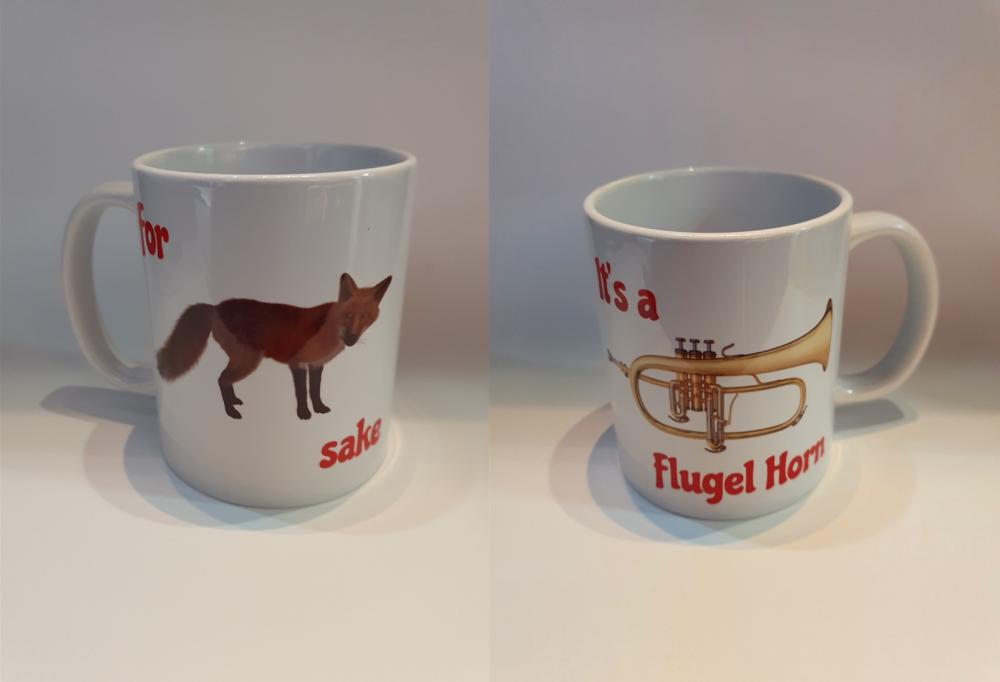 For Fox Sake - It's a Flugel Horn - Musical Design Mug
