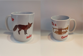 For Fox Sake - It's a Cornet - Musical Design Mug