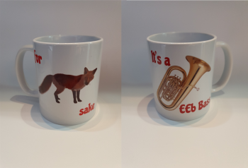 For Fox Sake - It's a EEb Bass - Musical Design Mug