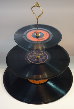 3 Tier Vinyl Record Cake Stand - 001