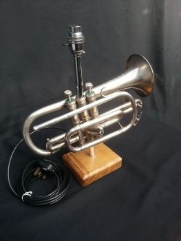 Besson Cornet on Wooden Stand ~ Instrument Light / Lighting
