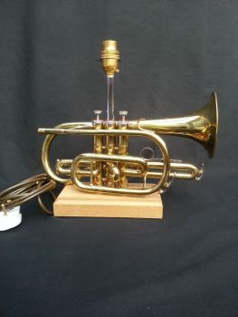 Lark Cornet on Wooden Stand ~ Instrument Light / Lighting