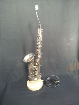 Alto Saxophone on Wooden Stand ~ Instrument Light / Lighting