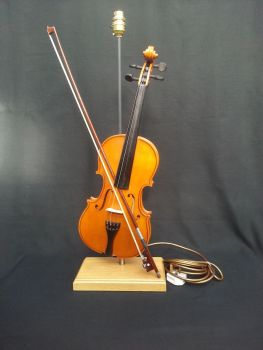 Violin on Wooden Stand ~ Instrument Light / Lighting