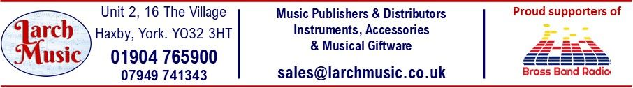 Larch Music Front Page Header