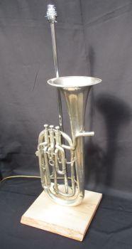 Tenor Horn Boosey & Co on waney wood ~ Instrument Light / Lighting