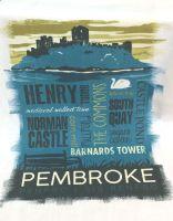 Pembroke Town Tea Towel