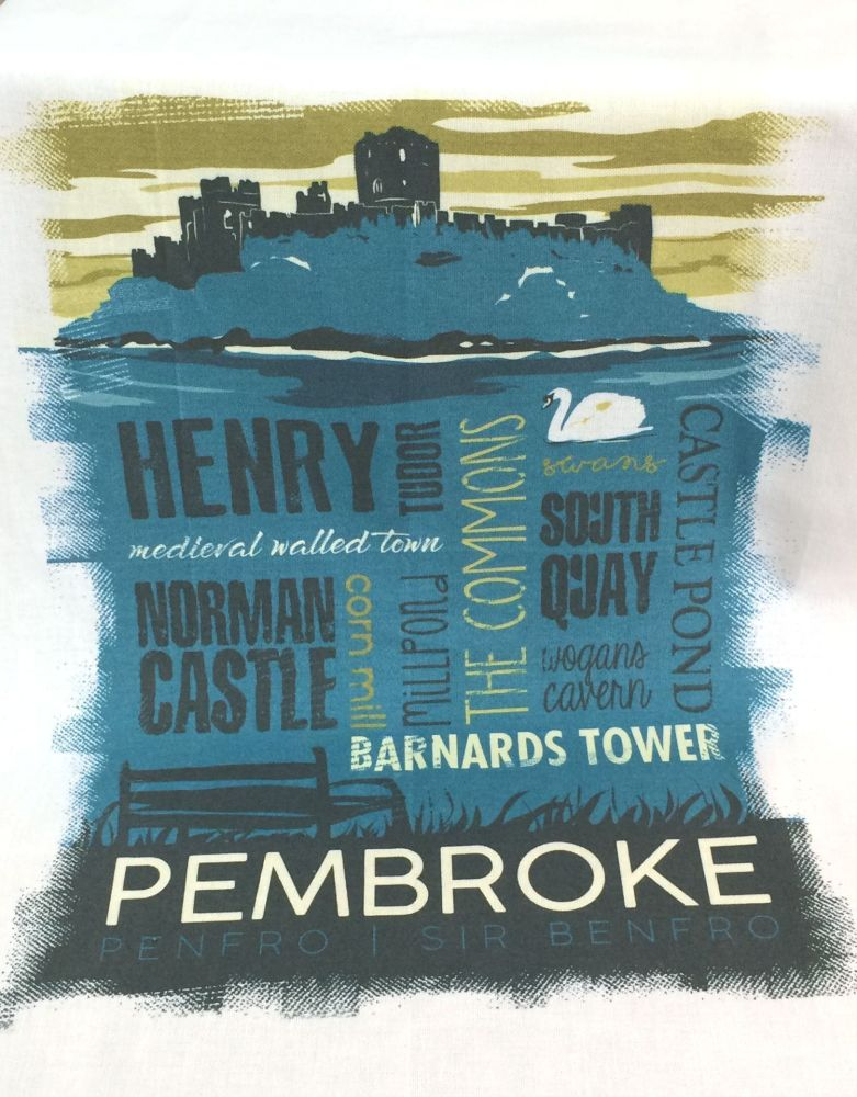 Pembroke Town Tea Towel