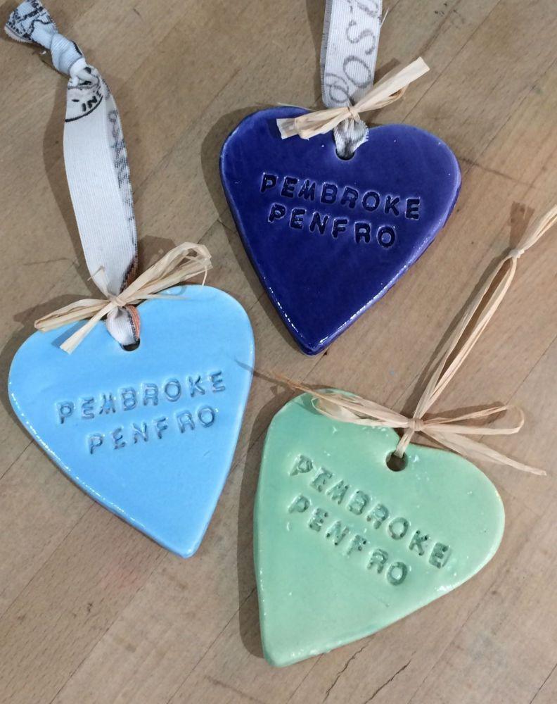 Pembroke - Penfro Large Ceramic Heart