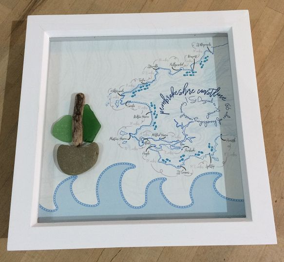 Pembrokeshire Coast Map box frame