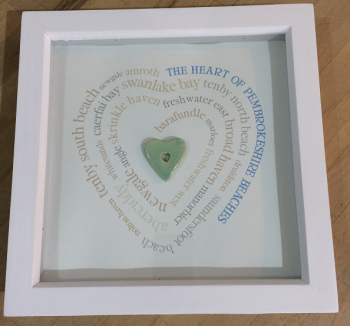 Pembrokeshire Beach Heart box frame