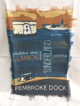 Pembroke Dock Sunderland Tea Towel