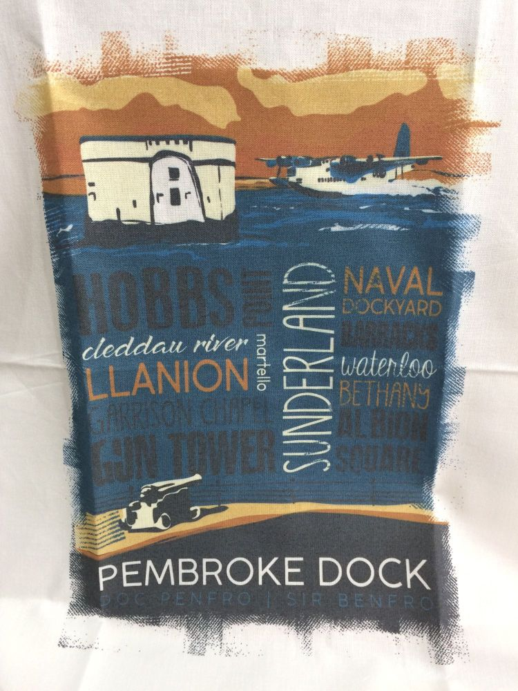 Pembroke Dock Town Tea Towel