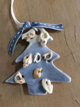 Ceramic Seashell Christmas Tree
