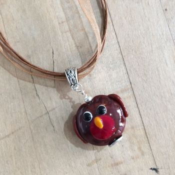Christmas Robin necklace